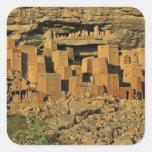 MALÍ, tierras de Dogon. Maliano tradicional de Pegatina Cuadrada