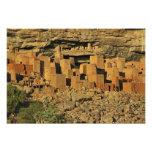 MALÍ, tierras de Dogon. Maliano tradicional de Tel Fotografías