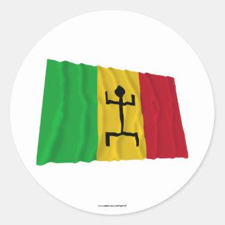 Mali Waving Flag (1959-1961) Classic Round Sticker