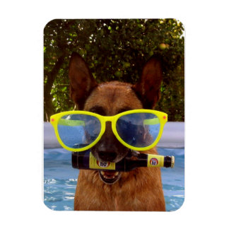 Mali with beer and eyeglasses rectangular photo magnet