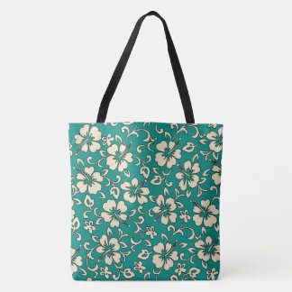 Malia Hawaiian Hibiscus Floral Beach Bag