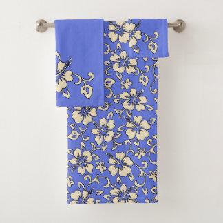 Malia Hawaiian Hibiscus Floral Coordinate -Peri Bath Towel Set