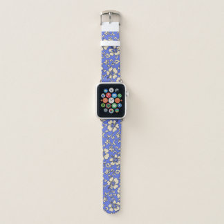 Malia Hawaiian Hibiscus Floral Periwinkle Apple Watch Band
