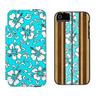 Malia Hibiscus and Pupukea Hawaiian Surfboard Duo Incipio Watson™ iPhone 5 Wallet Case