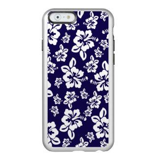 Malia Hibiscus - Blue Hawaiian Pareau Print Incipio Feather Shine iPhone 6 Case