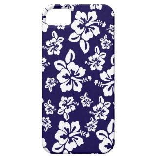 Malia Hibiscus - Blue Hawaiian Pareau Print iPhone SE/5/5s Case