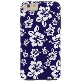 Malia Hibiscus - Blue Hawaiian Pareau Print Tough iPhone 6 Plus Case