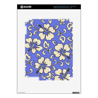 Malia Hibiscus Hawaiian iPad 3 or Tablet Skin iPad 3 Decals