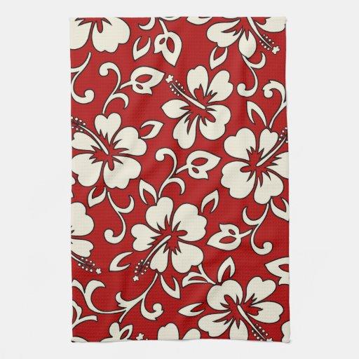 Malia Hibiscus Hawaiian Kitchen Towel from Zazzle.