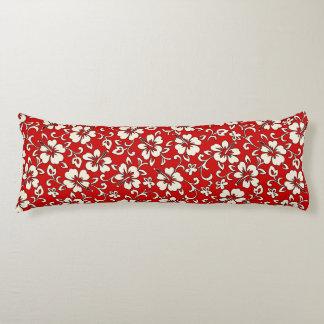 Malia Hibiscus Hawaiian Pareau Print Body Pillow