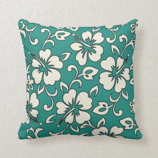 Malia Hibiscus Hawaiian Reversible Square Pillows