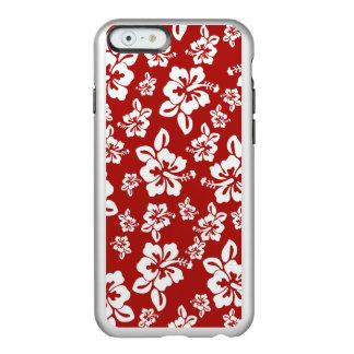Malia Hibiscus  -  Red Hawaiian Pareau Print Incipio Feather Shine iPhone 6 Case