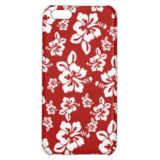 Malia Hibiscus  -  Red Hawaiian Pareau Print iPhone 5C Case