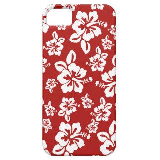 Malia Hibiscus  -  Red Hawaiian Pareau Print iPhone SE/5/5s Case