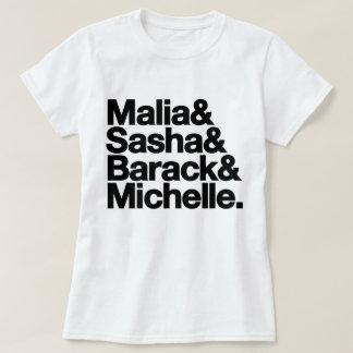 Malia & Sasha & Barack & Michelle Tee Shirt