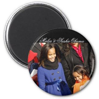 Malia & Sasha Obama Magnets