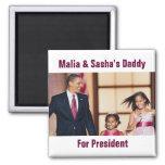 Malia y imán de Sasha Obama