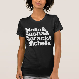 Malia y Sasha y Barack y Michelle Playera