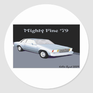 Malibu_2100x1800 Classic Round Sticker