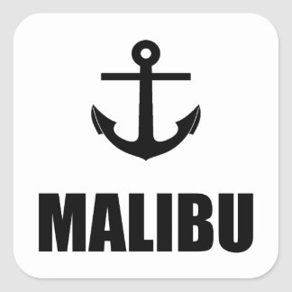 Malibu Anchor Square Sticker