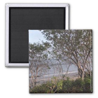 malibu beach 2 inch square magnet