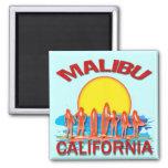 MALIBU BEACH CALIFORNIA 2 INCH SQUARE MAGNET