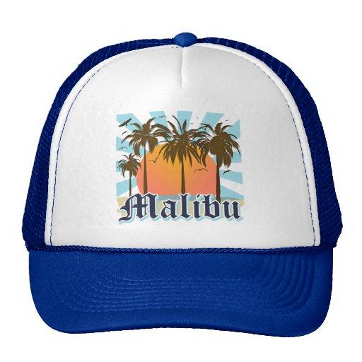Malibu Beach California CA Mesh Hats