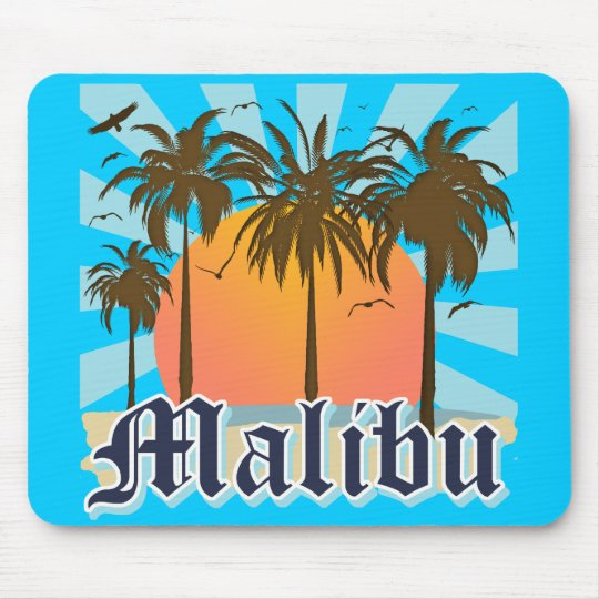 Malibu Beach California CA Mouse Pad