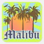 Malibu Beach California CA Square Sticker