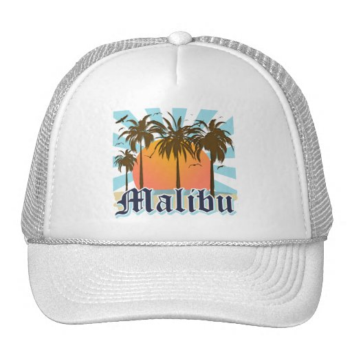 Malibu Beach California CA Trucker Hat