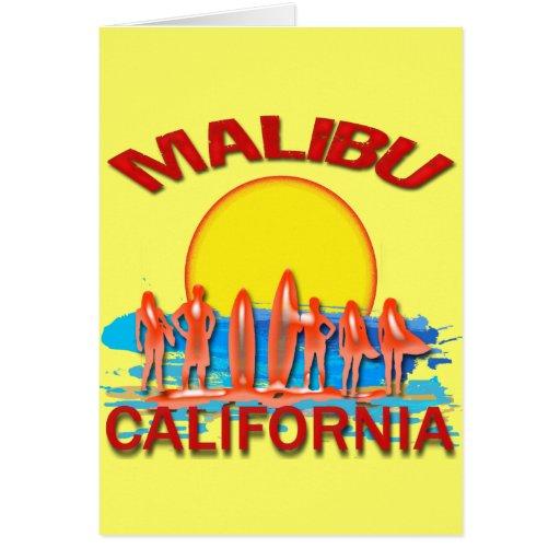 MALIBU BEACH CALIFORNIA CARD