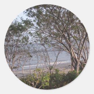 malibu Beach Classic Round Sticker