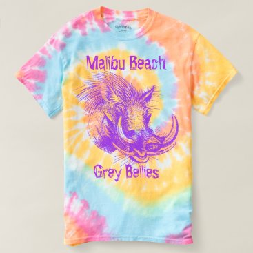 Beach Themed Malibu Beach Grey Bellies T-shirt