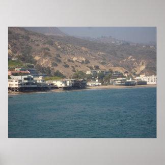 Malibu Beach Homes Poster