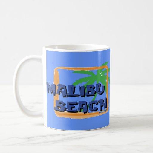 Malibu Beach Palm Tree Mugs