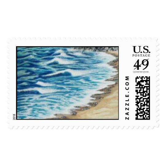"""Malibu Beach"" Postage"