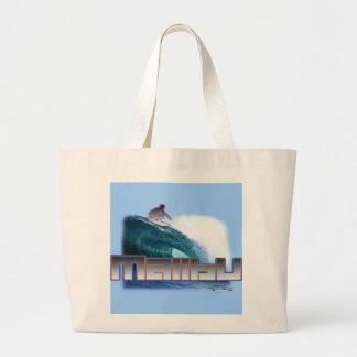 Malibu Beach Surfing Tote Bags