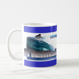 Malibu Beach Surfing Coffee Mugs