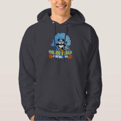 Men's Basic Hooded Sweatshirt with Malibu Beach Surfing Panda design