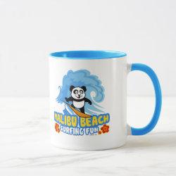 Combo Mug with Malibu Beach Surfing Panda design
