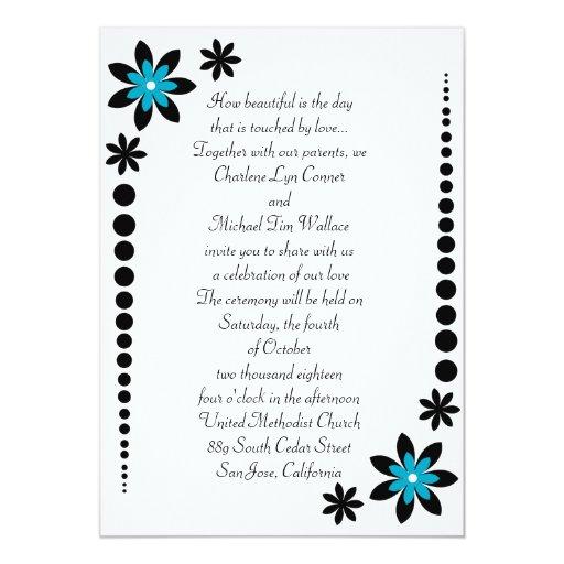 Malibu Blue Wedding Invitations