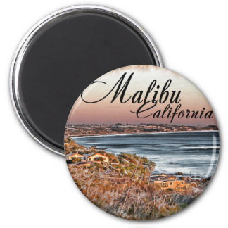 Malibu CA 2 Inch Round Magnet
