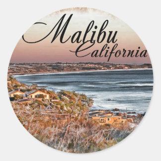 Malibu CA Classic Round Sticker