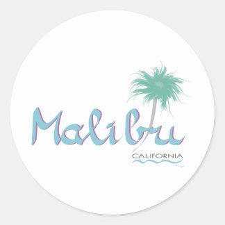 Malibu, CA Classic Round Sticker