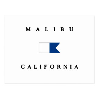 Malibu California Alpha Dive Flag Postcard