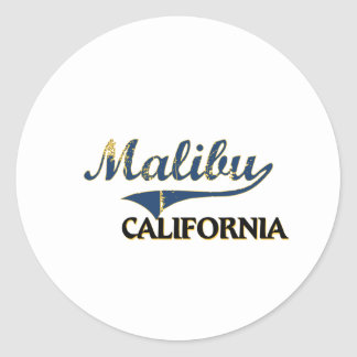 Malibu California City Classic Classic Round Sticker