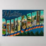 Malibu, California - escenas grandes de la letra Póster