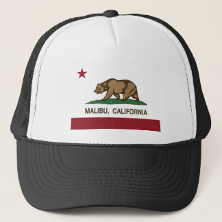 malibu california flag trucker hat
