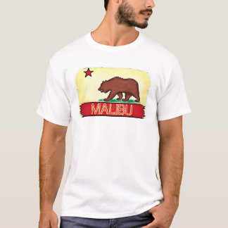 Malibu California guys state flag tee