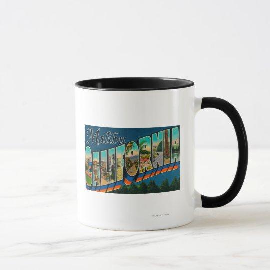 Malibu, California - Large Letter Scenes Mug